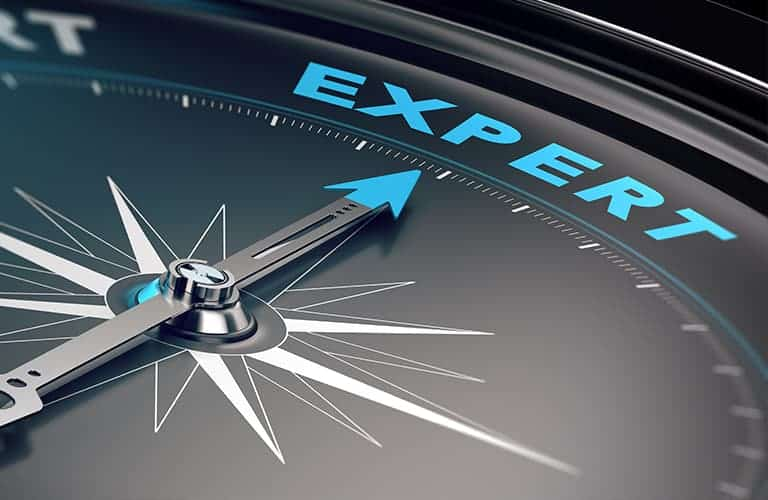 Boussole indiquant le niveau expert