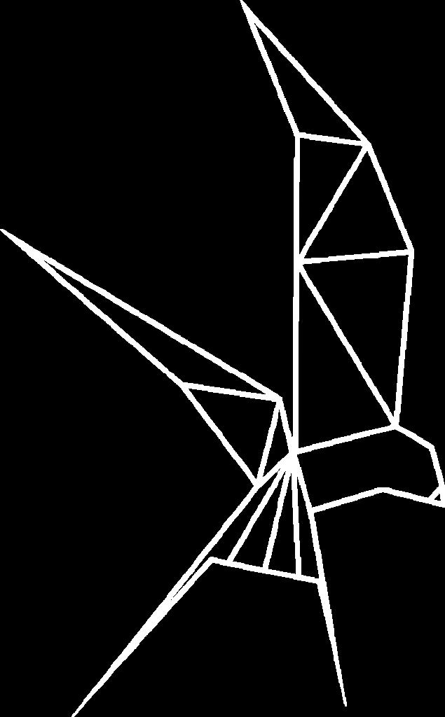 Hirondelle dessinée en Origami