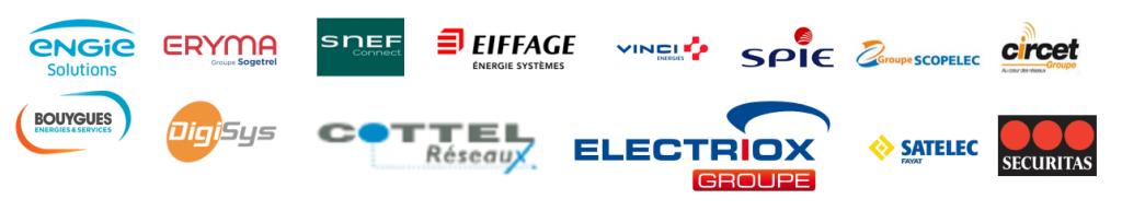Logos des partenaires installateurs