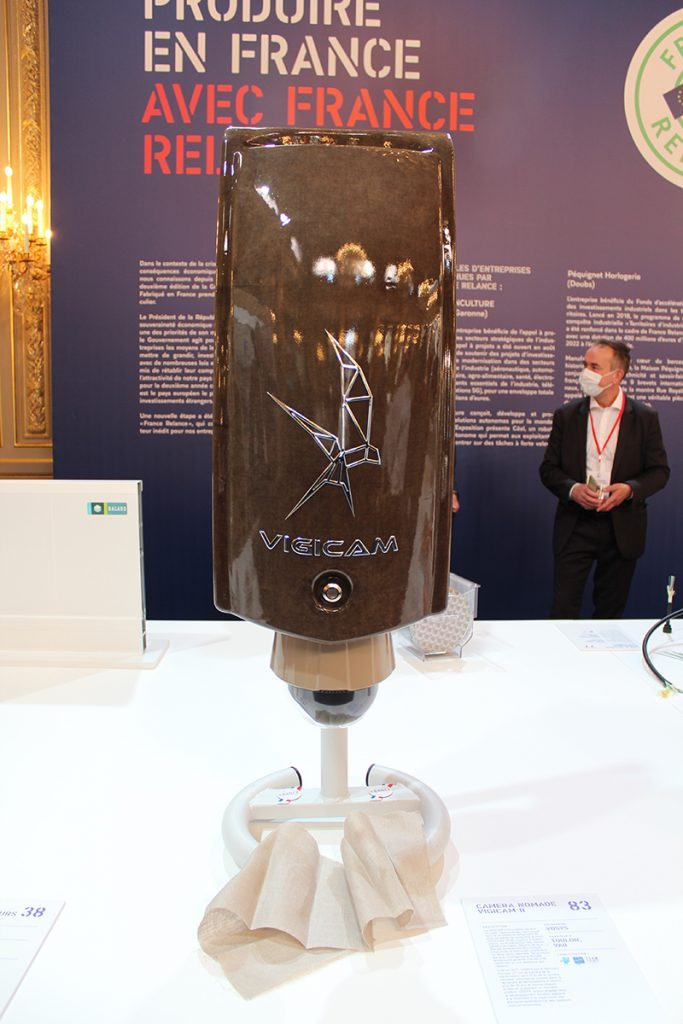 VIGICAM II par VDSYS à la grande exposition du fabriqué en France à l'Élysée, vue de face