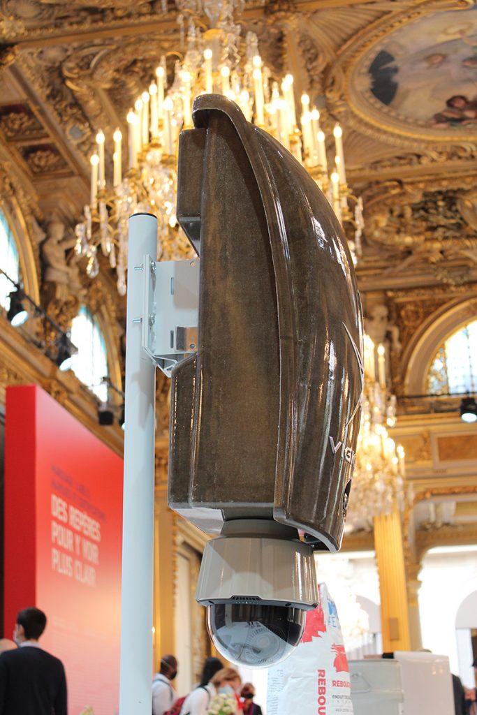 VIGICAM II par VDSYS à la grande exposition du fabriqué en France à l'Élysée, vue de profil